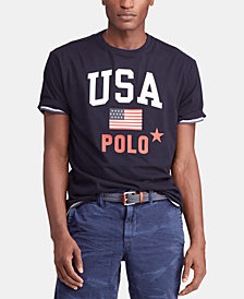 Polo Ralph Lauren Men's Classic-Fit Graphic Americana T-Shirt