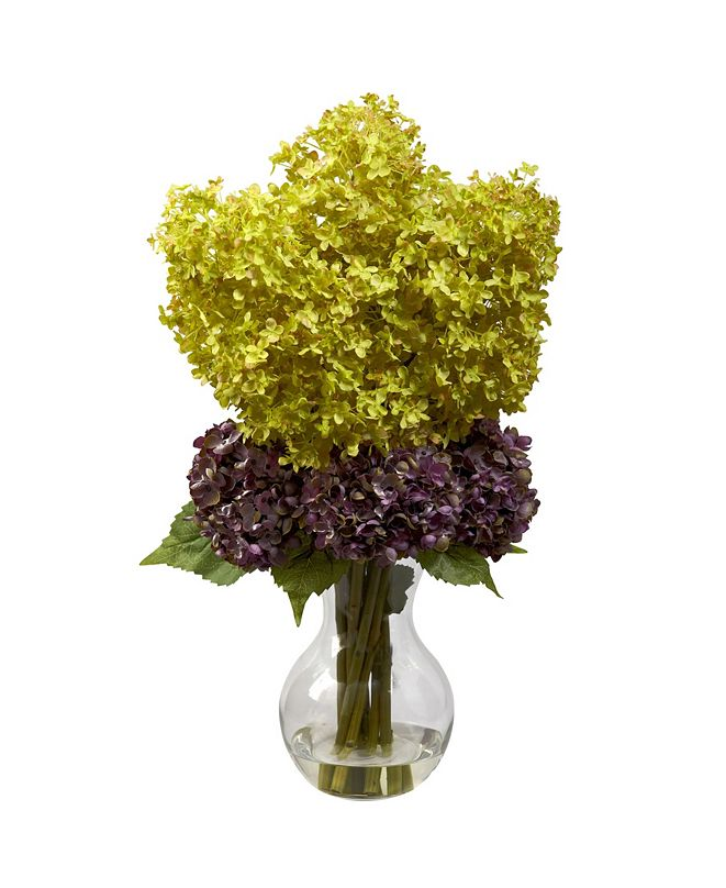 Nearly Natural Bostonian Hydrangea Arrangement