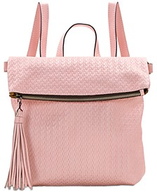 Luzille Woven Leather Convertible Backpack
