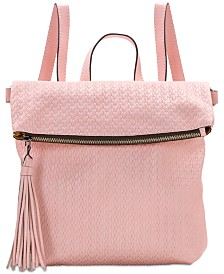 Patricia Nash Luzille Woven Leather Convertible Backpack