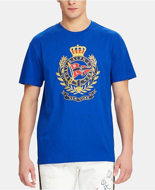 Polo Ralph Lauren Men's Crest Print Classic-Fit T-Shirt