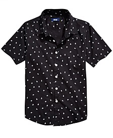 Big Boys Cranium Regular-Fit Skull-Print Shirt