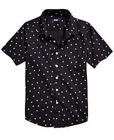 Big Boys Cranium Regular-Fit Skull-Print Shirt