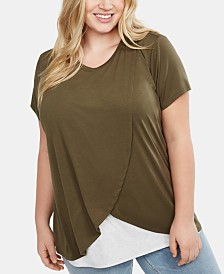 Motherhood Maternity Plus Size Lift-Up Nursing Top