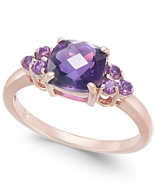 Amethyst (1-3/8 ct. t.w.) & Rhodolite (1/3 ct. t.w.) Ring in 14k Rose Gold