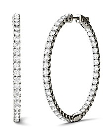 Moissanite Hoop Earrings (5/8 ct. t.w. Diamond Equivalent) in 14k Gold or White Gold