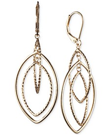 Gold-Tone Orbital Drop Extra Large Earrings