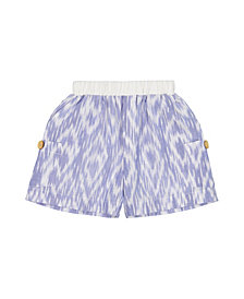 Masala Baby Big Boys Cargo Shorts Ikat Diamond, 12-18M