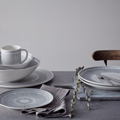 Crafted by Royal Doulton Charcoal Grey Lines Serving Platter
