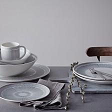ED Ellen DeGeneres Crafted by Royal Doulton Charcoal Grey Lines Dinnerware Collection