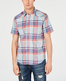 Men's Snap-Front Plaid Shirt