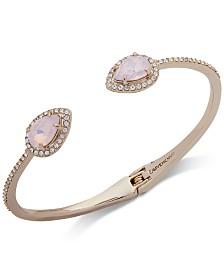 Givenchy Crystal & Stone Cuff Bracelet