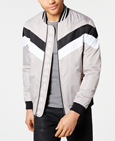 I.N.C. Men's Colorblocked Bomber Jacket, Created for Macy's