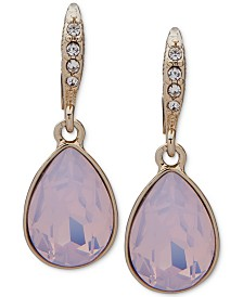 Givenchy Crystal & Stone Medium Drop Earrings