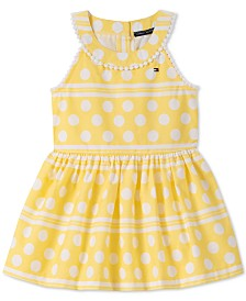 Tommy Hilfiger Toddler Girls Cotton Striped Dot Dress