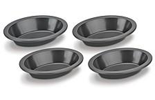 Nonstick 4-Pc. Mini Oval Pie Dish Set