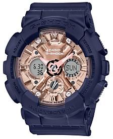 Baby-G Women's Analog-Digital Navy Resin Strap Watch 45.9mm