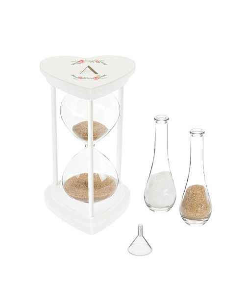 Cathy's Concepts Personalized Floral Unity Sand Ceremony Hourglass Set