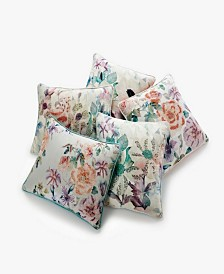 CLOSEOUT! Lacourte Floral Decorative Pillow and Throw Collection
