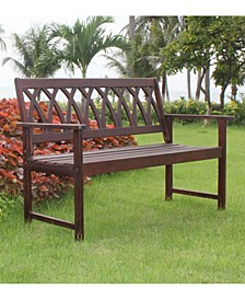 Criss Cross Garden Bench