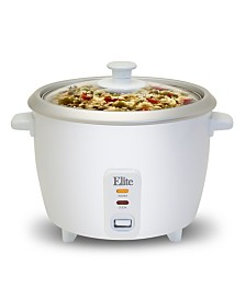 Elite Cuisine 6 Cup Rice Cooker with Glass Lid