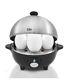 Elite Platinum Egg Cooker with Stainless Steel Egg Tray and Lid