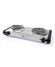 Elite Cuisine Electric Double Coil Burner Hot Plate