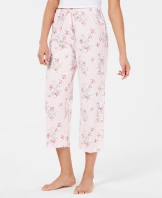 Printed Soft Knit Cotton Cropped Pajama Pants, Created for Macy's