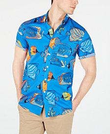 Club Room Men's Fish-Print Shirt, Created for Macy's