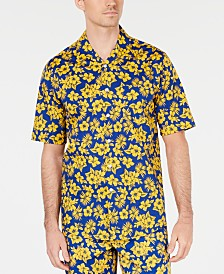 Club Room Men's Camp Collar Graphic Shirt, Created for Macy's