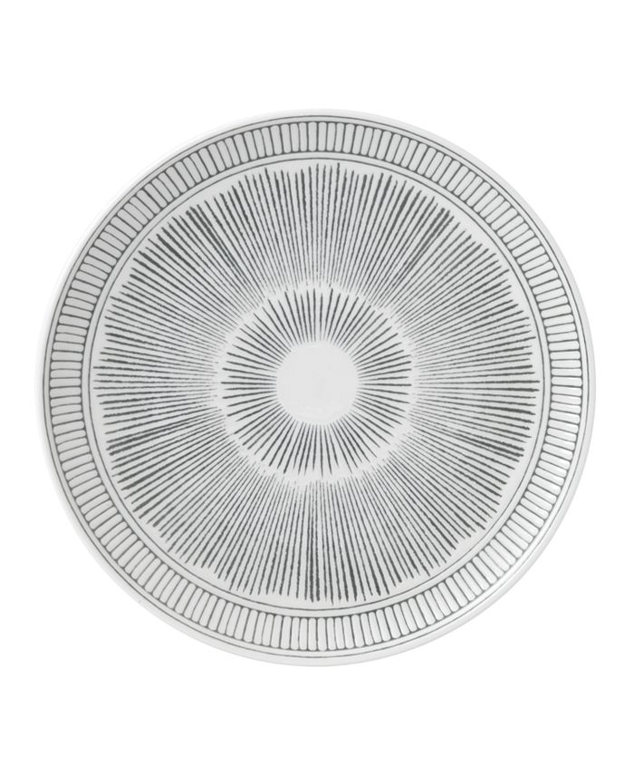 "ED Ellen Degeneres - Charcoal Grey Lines Side Plate 8.3"""