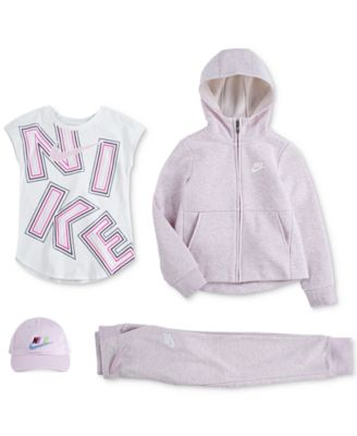 Little Girls Full-Zip Logo Hoodie