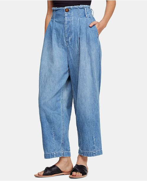 Free People Carrot Pleated High-Rise Jeans