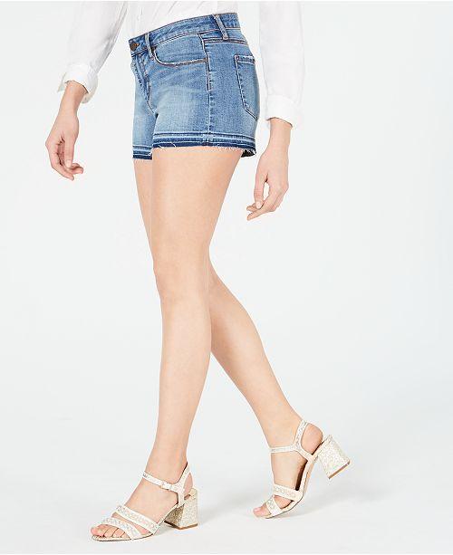 Articles of Society Zina Frayed Denim Shorts
