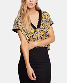 Free People Leilani Mixed-Print Top