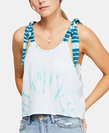 Free People Koa Cotton Tie-Strap Tank Top