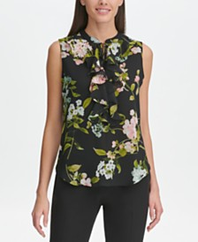 Tommy Hilfiger Floral Ruffled Top