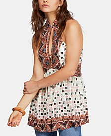 Charlotte Mixed-Print Racerback Fit & Flare Top