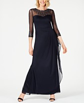 986f130ae6c Alex Evenings Illusion Embellished A-Line Gown