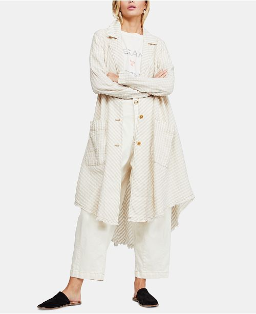 Free People Let's Just Cruise Frayed Duster Cardigan