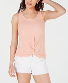 Hippie Rose Twist-Front Tank Top