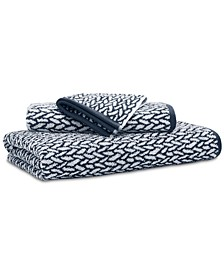 "Sanders  Antimicrobial Cotton Basket Weave 30"" x 56"" Bath Towel"