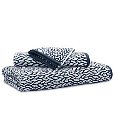 "Lauren Ralph Lauren Sanders  Antimicrobial Cotton Basket Weave 13"" x 13"" Wash Towel"