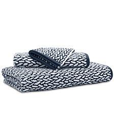 """Lauren Ralph Lauren Sanders  Antimicrobial Cotton Basket Weave 16"""" x 30"""" Hand Towel"""