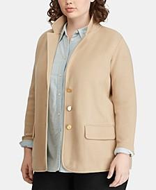 Plus Size Sweater Blazer