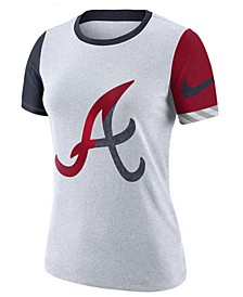 Women's Atlanta Braves Slub Logo Crew T-Shirt