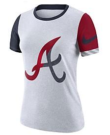 Nike Women's Atlanta Braves Slub Logo Crew T-Shirt