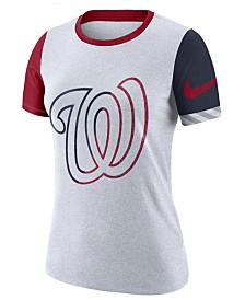 Nike Women's Washington Nationals Slub Logo Crew T-Shirt