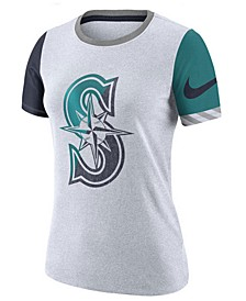 Women's Seattle Mariners Slub Logo Crew T-Shirt