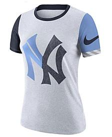 Women's New York Yankees Slub Logo Crew T-Shirt